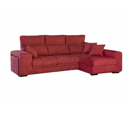 Chaiselonge reclinable deslizante y arcón
