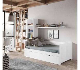 Dormitorio cama nido diván Océano