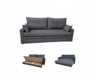 Sofá cama con canapé.